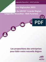 Les 10 Priorites du Medef grande région Languedoc-Roussillon - Midi-Pyrénées