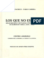 Los Que No Estan-Desaparecidos de Florencio Varela (1976-1983)