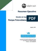 Parque Fotovoltaico 2015