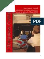 Nauczanie Historii w Szkolach Podstawowych w Polsce w Latach 1944-1989