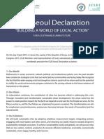 Seoul Declaration Nomarks