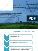 Grid Failure a Perspective as a Power Producer