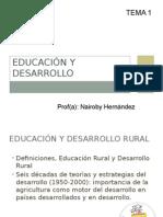 Tema 1. Educacion y D Rural 2014