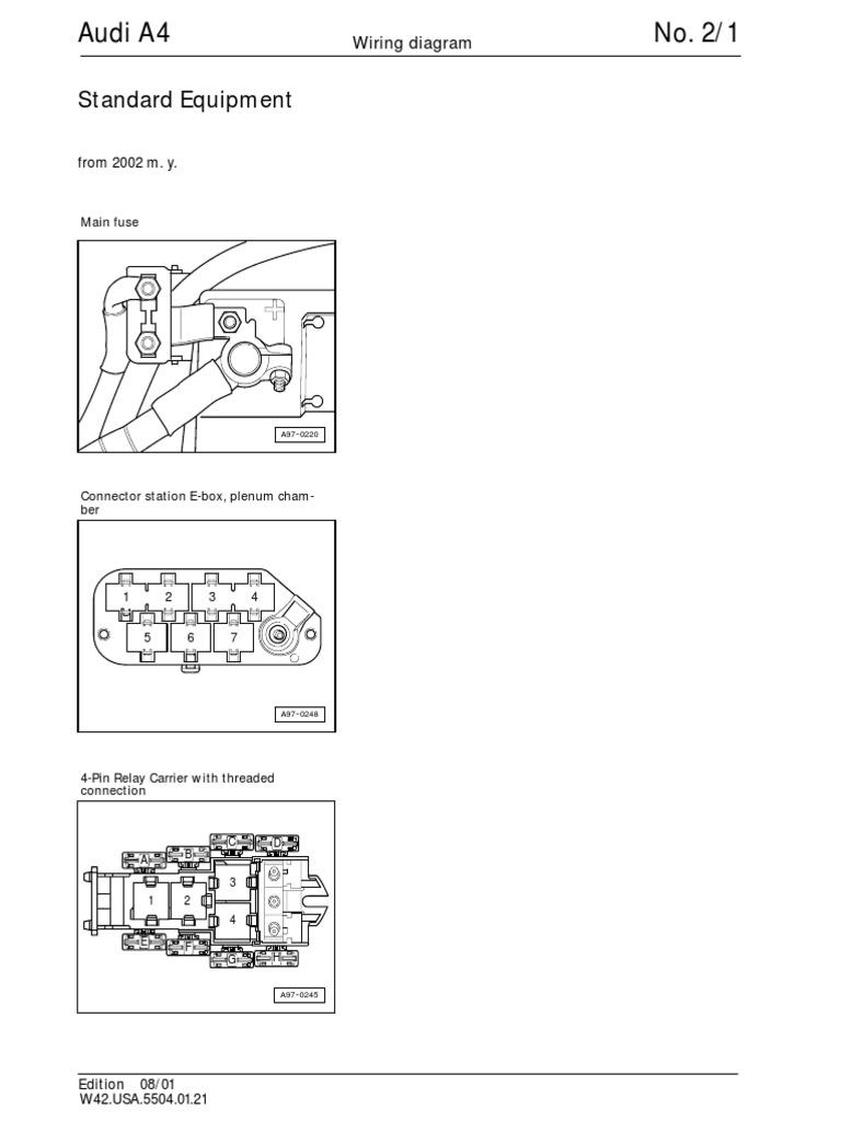 Audi A4 B6 Wiring Diagrams Standard Equipment Headlamp Vehicle Technology