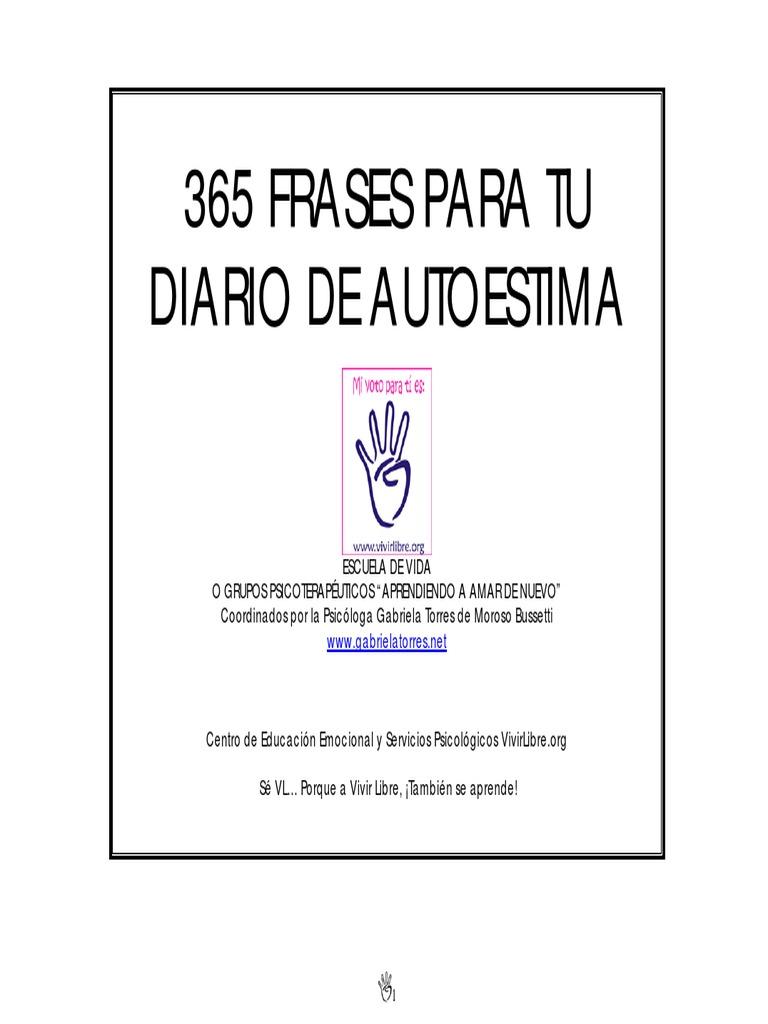 365 Frases Para Tu Diario De Autoestima Amor México