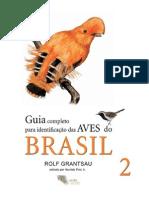 Guia de Identificação Das Aves Brasileiras Vol.2 - Rolf Grantsau