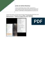 Creación de Usuarios en Active Directory