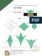 Mestre Yoda origami