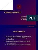 7. Paquetes ORACLE