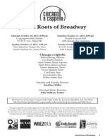 Jewish Roots of Broadway Program