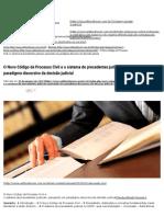 O Novo Código de Processo Civil e o Sistema de Precedentes Judiciais_ Pensando Um Paradigma Discursivo Da Decisão Judicial Editora Fórum - Conhecimento Jurídico
