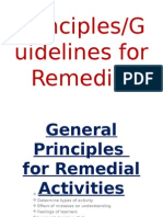 Principles for Remedial
