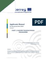 Part 1 DTP Applicants Manual Danube Transnational Programme