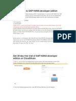 Introduction to SAP HANA Developer Edition