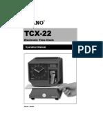 Manual Del Reloj Checador Tcx-22