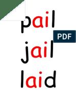 ENG 'Ai' 'Ee' Word Flashcards