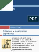 Extinción (Mecanismos de Condicionamiento)