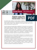 Programa Claudia Osorio - Candidata Delegada gen 2013 #3