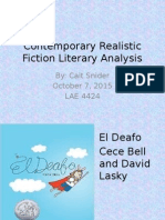 snider contemporary realistic fiction literary analysis