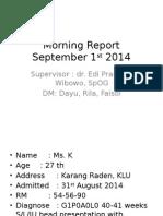 Morning Report 1 september 2014.pptx