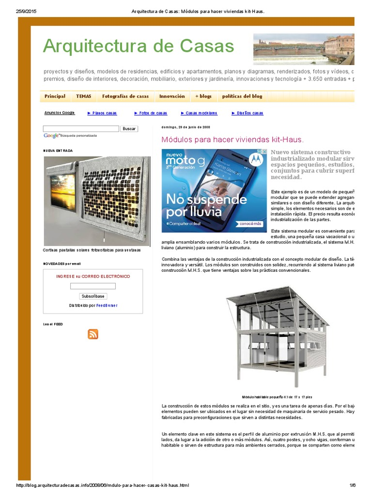Arquitectura De Casas Módulos Para Hacer Viviendas Kit Haus