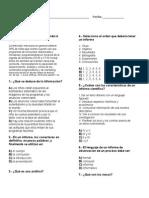 Examen 1º secundaria- Bimestre 4