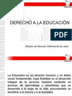 Defensoría del pueblo y el derecho a la educación