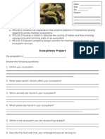 ecosystems project checklist   rubric