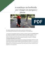 Castellón Sustituye Un Herbicida Químico Por Vinagre en Parques y Plazas