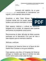 30 12 2010 -  Conmemoración del Natalicio de don Adolfo Ruiz Cortines
