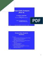 M&S 05 Output Data Analysis