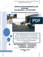 Pip de Agua Potable y Alcantarillado SANEAMIENTO