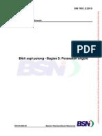 SNI 7651.5.2015 Bibit Sapi Potong Bagian 5 . Peranakan Ongol