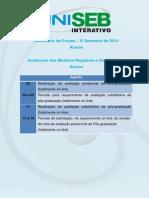 Calendario de Provas 2014-2 Alunos