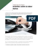 5 Datos Recientes Sobre La Labor de Los Notarios