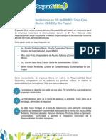 Las 10 recomendaciones en RS de BIMBO, Coca-Cola México, CEMEX y Bio-Pappel