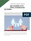 Los 4 Temas Resueltos en El Reciente Pleno Jurisdiccional de Familia