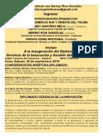 1INVITACION DIPLOMADO GERENCIA DE LA INNOVACION Y GESTION DEL CONOCIMIENTO ESPINAL 2015.doc