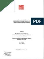 Recurso de Reposición - Operación Canalejas