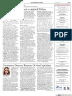 Consumers Demand Purpose-Driven Capitalism (Part 1)