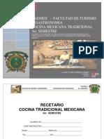 Recetario Cocina Mexicana Tradicional Uaemex