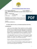 Reglamento de Operaciones Portuarias