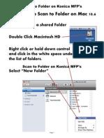 Scan to Folder Setup on Konica (Mac 10.6 Using an Internet Browser)