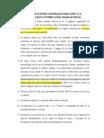 Recomendaciones Generales Para La Presentacion y Entrega Del Trabajo Final