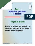 Lazo Abierto y Generalidades Del Opamp