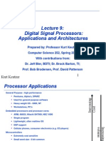 Digital Signal Processors Application Architecture