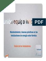 Mantenimiento y buenas practias en las Instalaciones de Energia Solar Termica.pdf