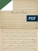 Debussy - Nocturne Et Scherzo for Cello and Piano Manusc PNO