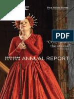 Canadian Opera Company Annual Report 2013/2014
