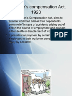 Workmen Comp Act